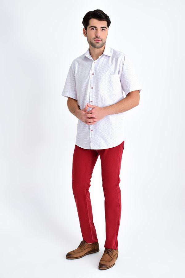 HATEMOĞLU - BORDO B Baskılı Klasik Gömlek (1)