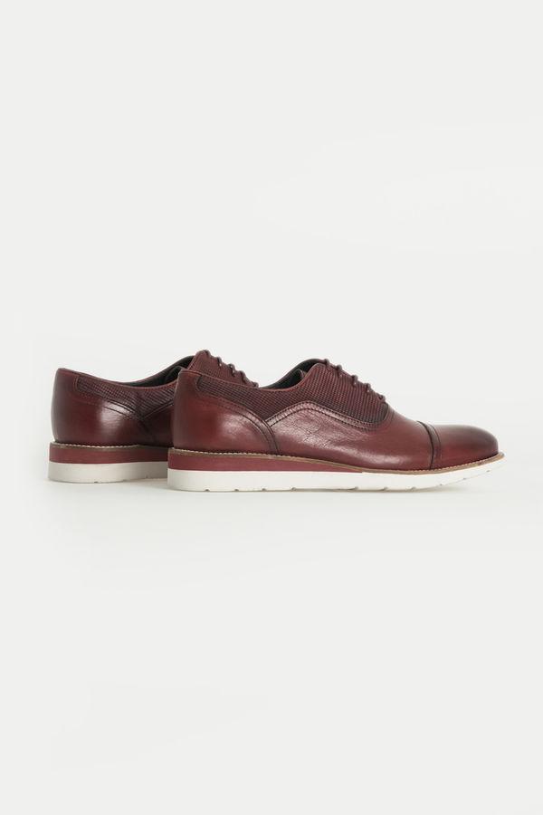 Hatem Saykı - Hakiki Deri Bordo Günlük Ayakkabı (1)
