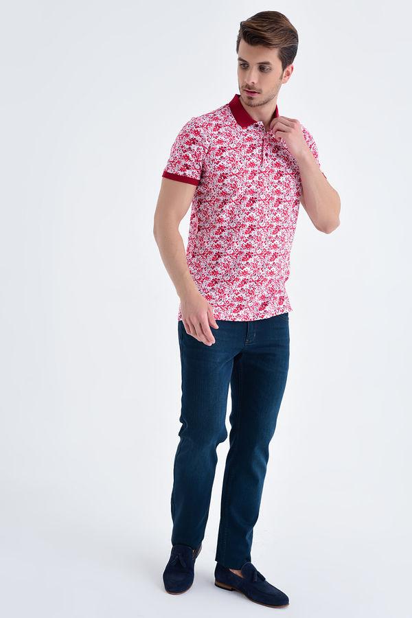 HTML - Bordo Baskılı Regular T-shirt (1)