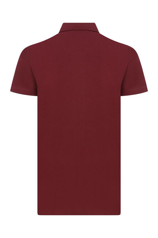 Bordo Kısa Kol Spor Gömlek