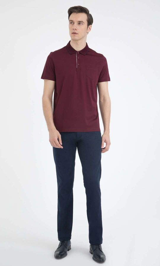 HATEMOĞLU - Bordo - Regular T-shirt (1)