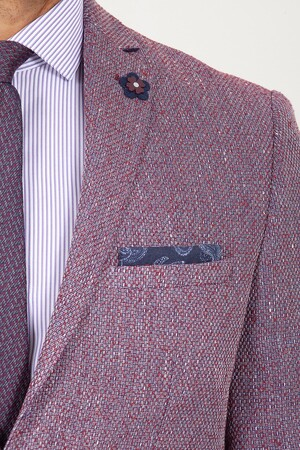 Bordo Slim Fit Ceket - Thumbnail