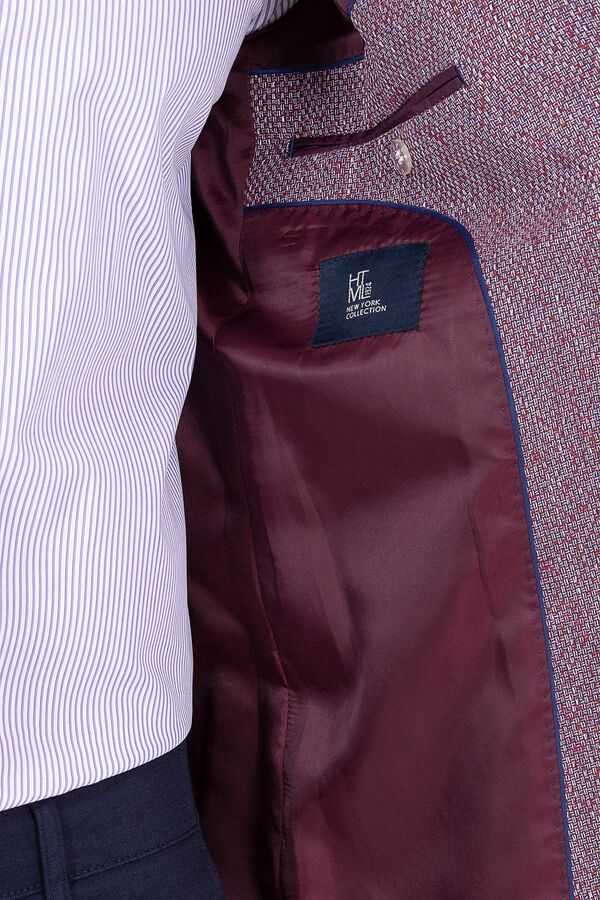 Bordo Slim Fit Ceket
