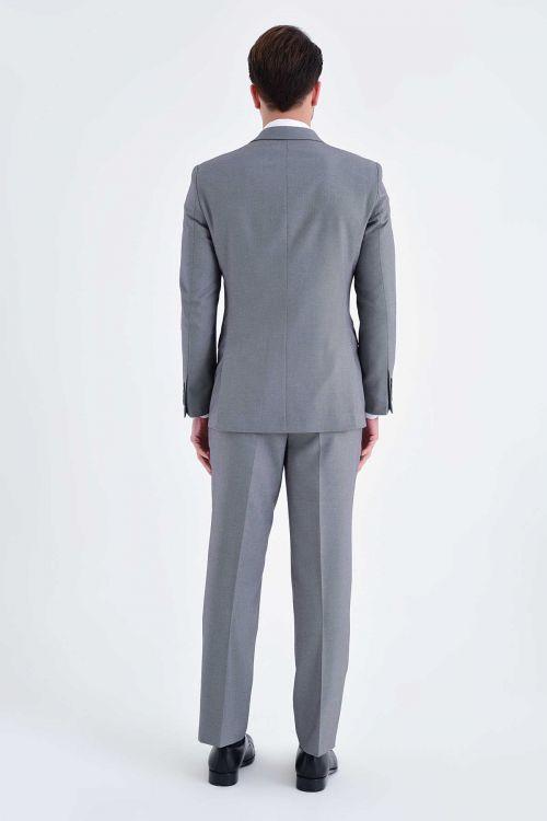 Bordo Desenli Slim Fit Takım Elbise