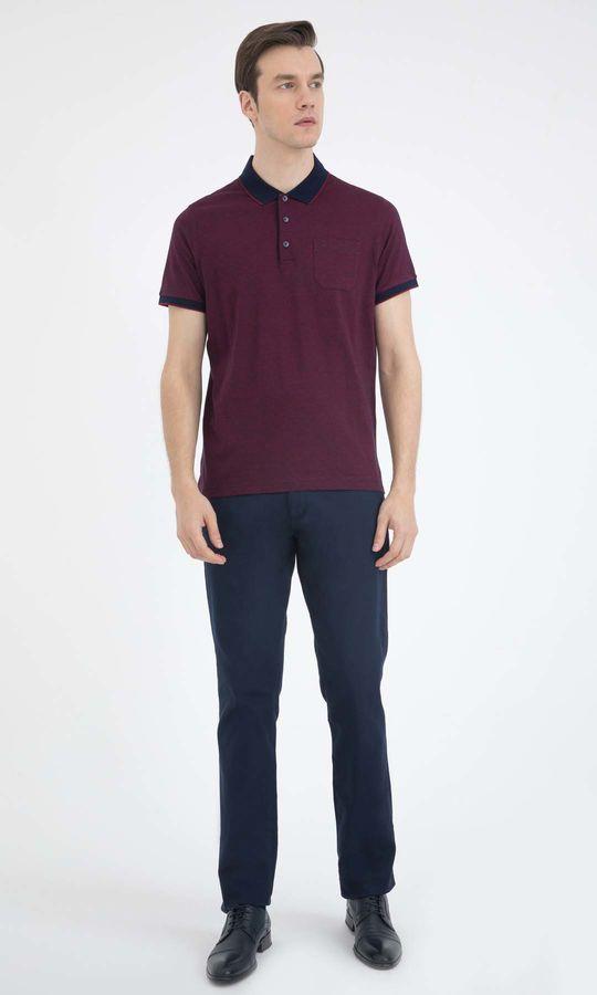 HATEMOĞLU - Bordo - Lacivert - Desenli Regular T-shirt (1)