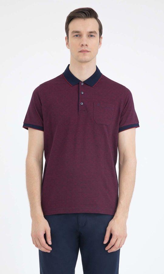 HATEMOĞLU - Bordo - Lacivert - Desenli Regular T-shirt