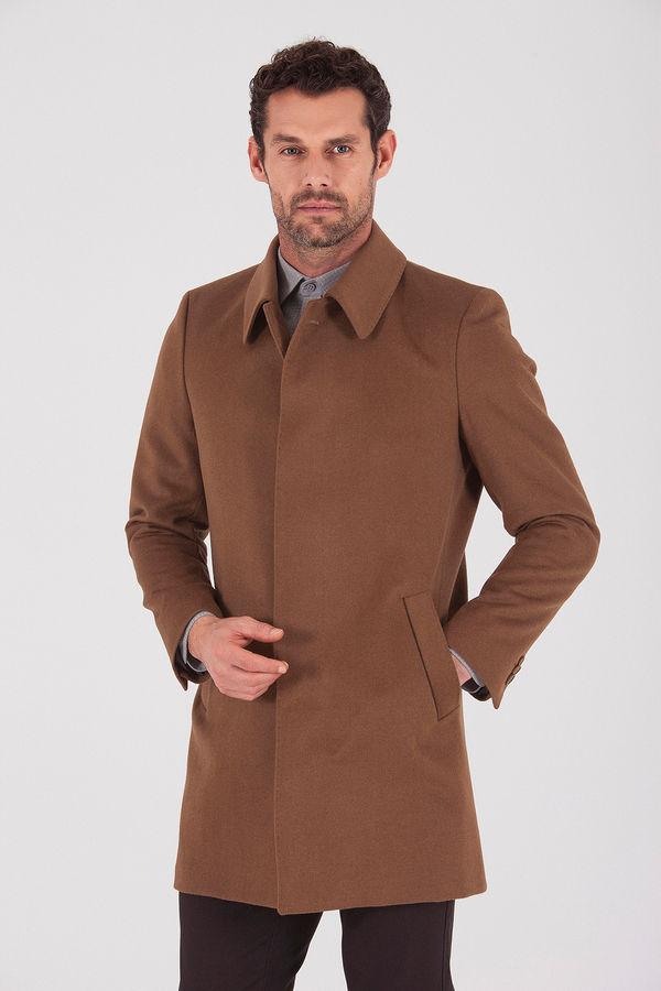 Camel Bebe Yaka Yünlü Palto