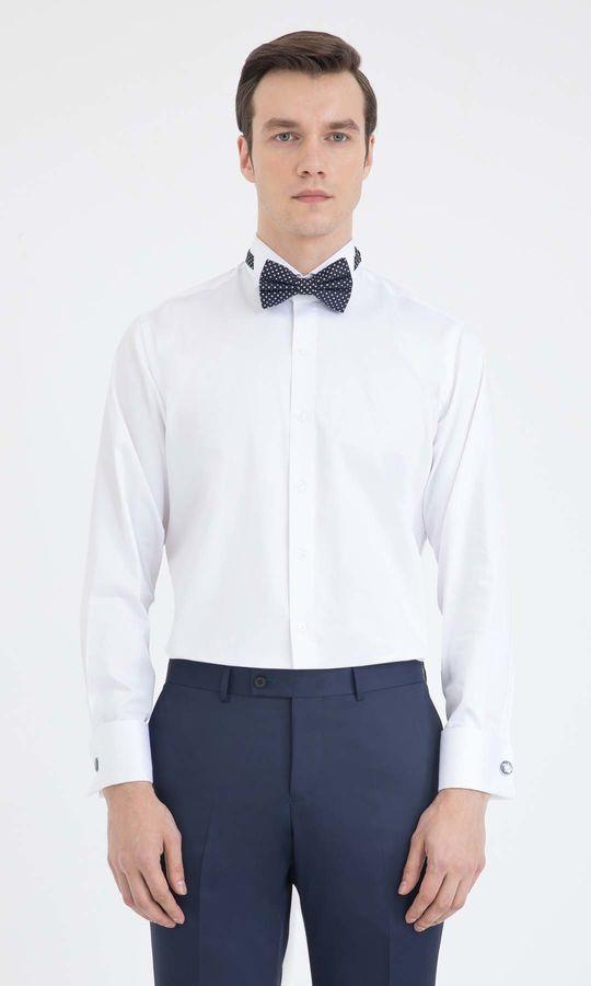 Hatem Saykı - Cerimonia Regular Beyaz Gömlek