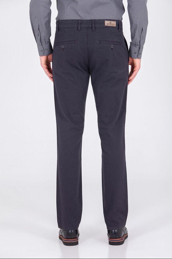 Desenli Antrasit Regular Pantolon