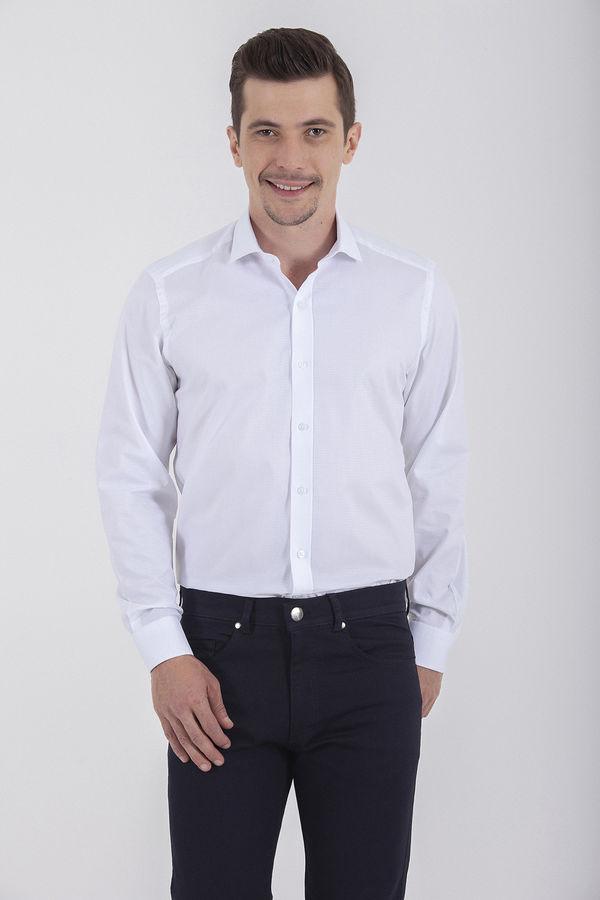Desenli Beyaz Gömlek