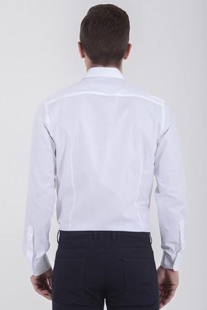 Desenli Beyaz Gömlek - Thumbnail