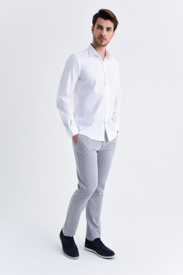 Hatemoğlu - Desenli Beyaz Slim Fit Gömlek (1)