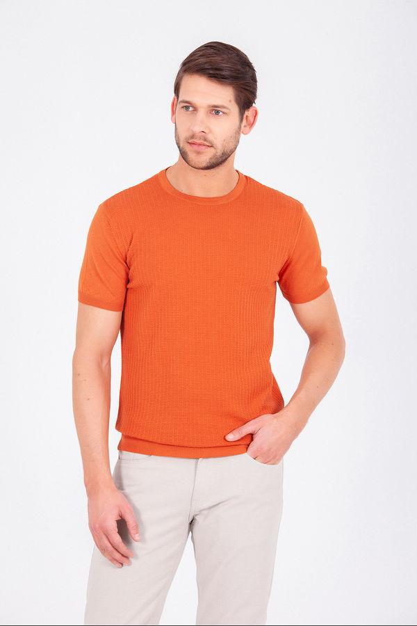 Hatem Saykı - Turuncu Bisiklet Yaka Basic Tişört