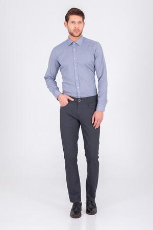 Hatemoğlu - Desenli Gri Regular Pantolon (1)