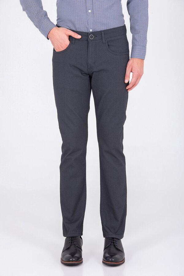 Hatemoğlu - Desenli Gri Regular Pantolon