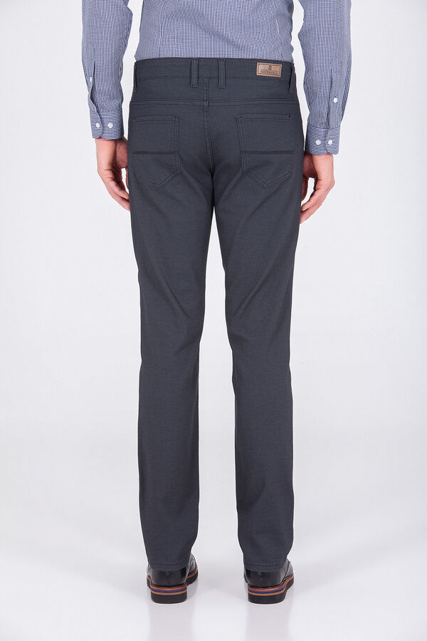 Desenli Gri Regular Pantolon