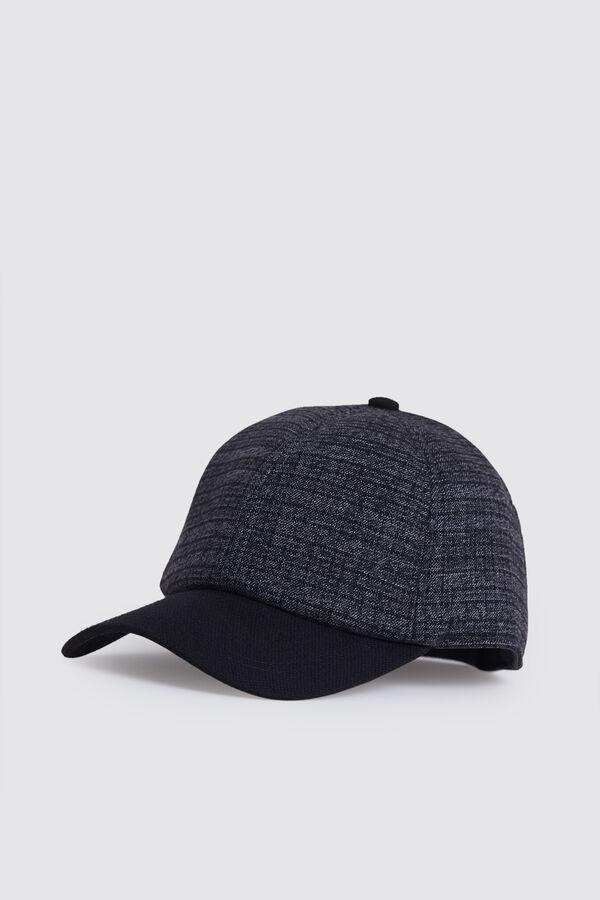 Desenli Gri Şapka