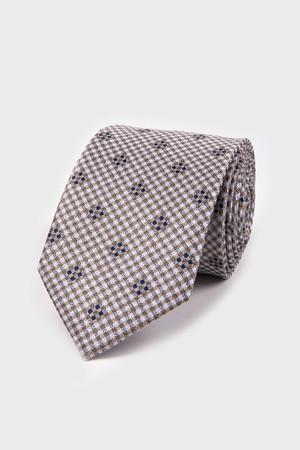 Hatemoğlu - Desenli Kahverengi Kravat