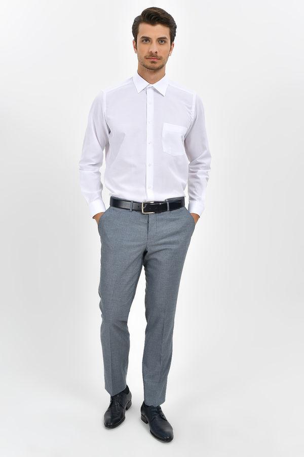 Hatemoğlu - Desenli Klasik Beyaz Gömlek (1)