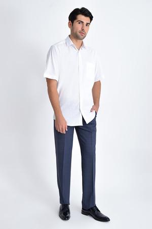 Hatemoğlu - Kısa Kol Beyaz Desenli Gömlek (1)