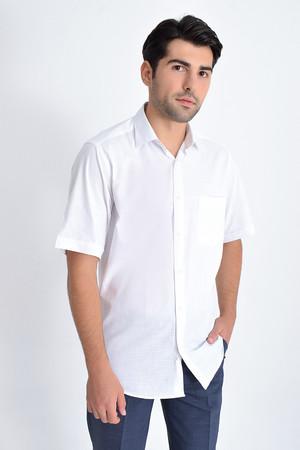 Hatemoğlu - Kısa Kol Beyaz Desenli Gömlek