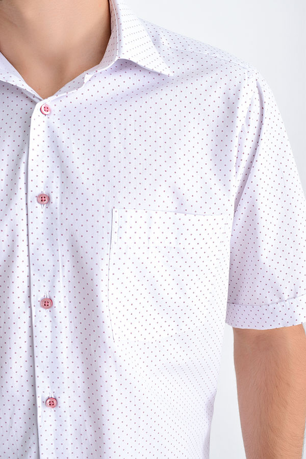 Desenli Klasik BORDO Gömlek