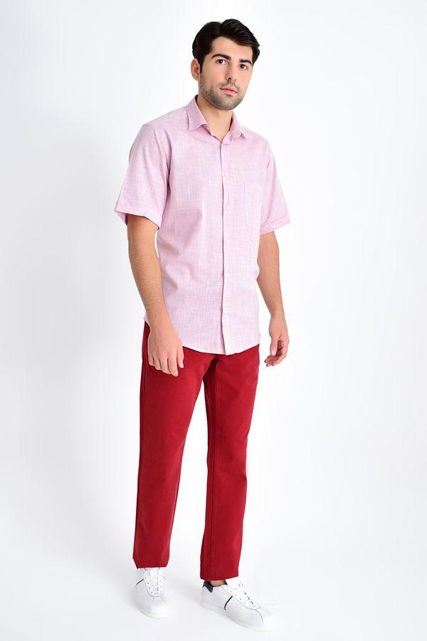 Hatemoğlu - Desenli Klasik Bordo Gömlek (1)