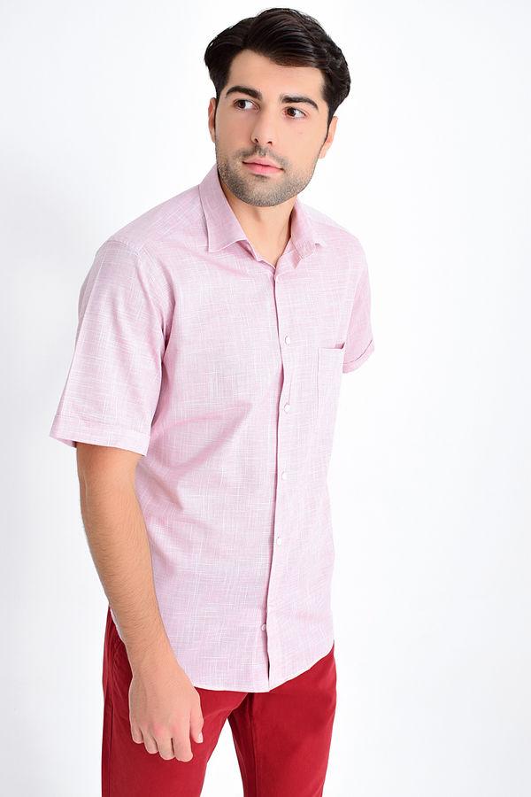 Hatemoğlu - Desenli Klasik Bordo Gömlek