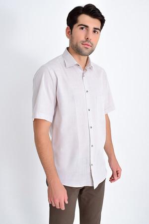 Hatemoğlu - Desenli Klasik Kahverengi Gömlek