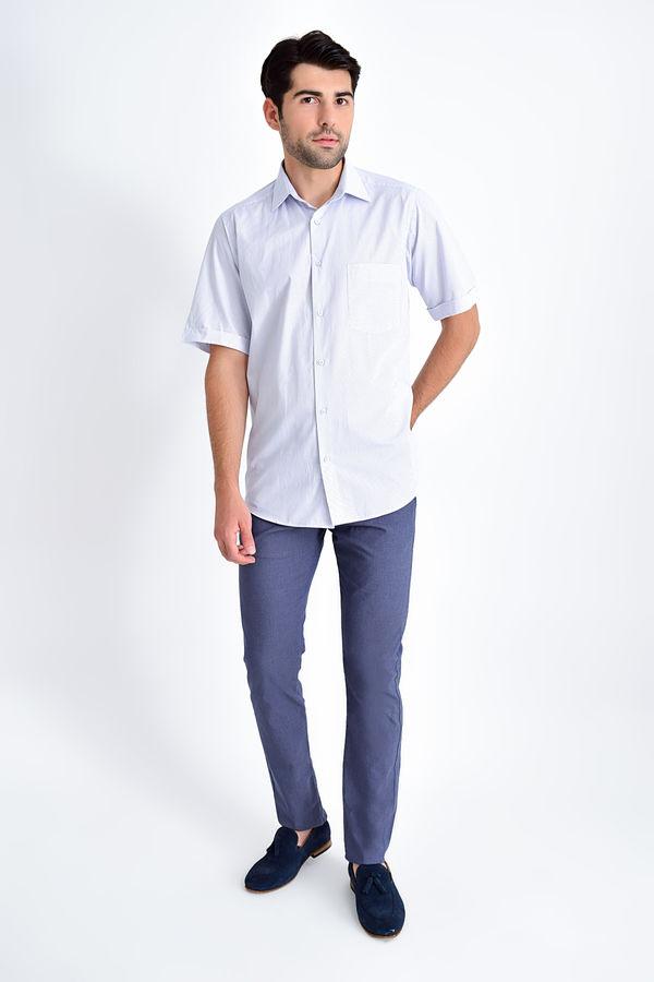 Hatemoğlu - Desenli Klasik Lacivert Gömlek (1)