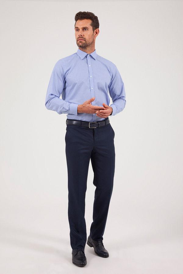 Hatemoğlu - Desenli Klasik Lacivert Pantolon (1)