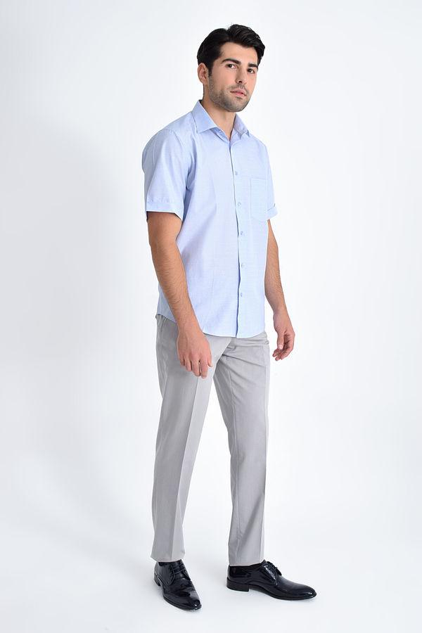 Hatemoğlu - Kısa Kol Mavi Desenli Regular Fit Gömlek (1)