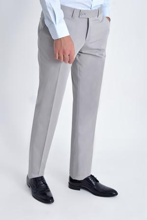 Bej Desenli Klasik Pantolon - Thumbnail