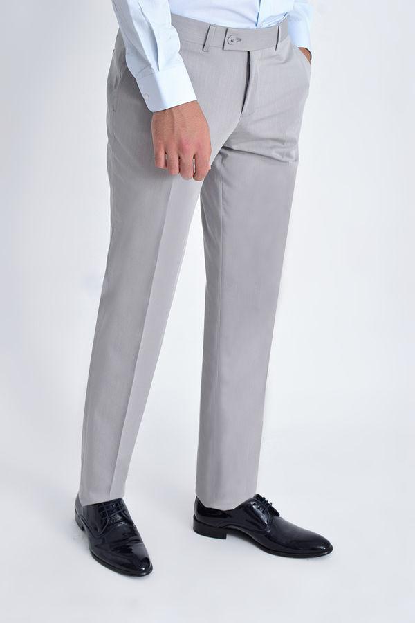 Bej Desenli Klasik Pantolon