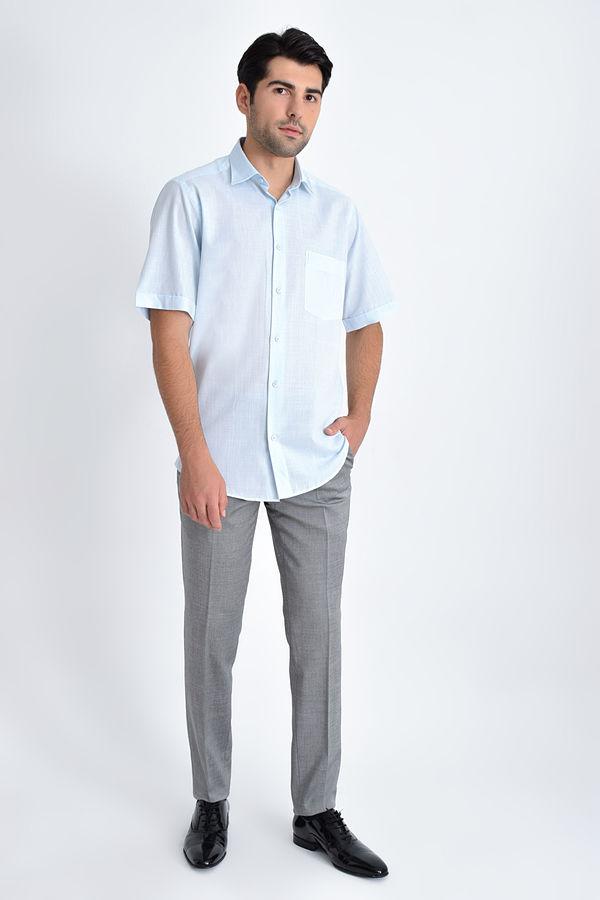 Hatemoğlu - Desenli Klasik TURKUAZ Gömlek (1)