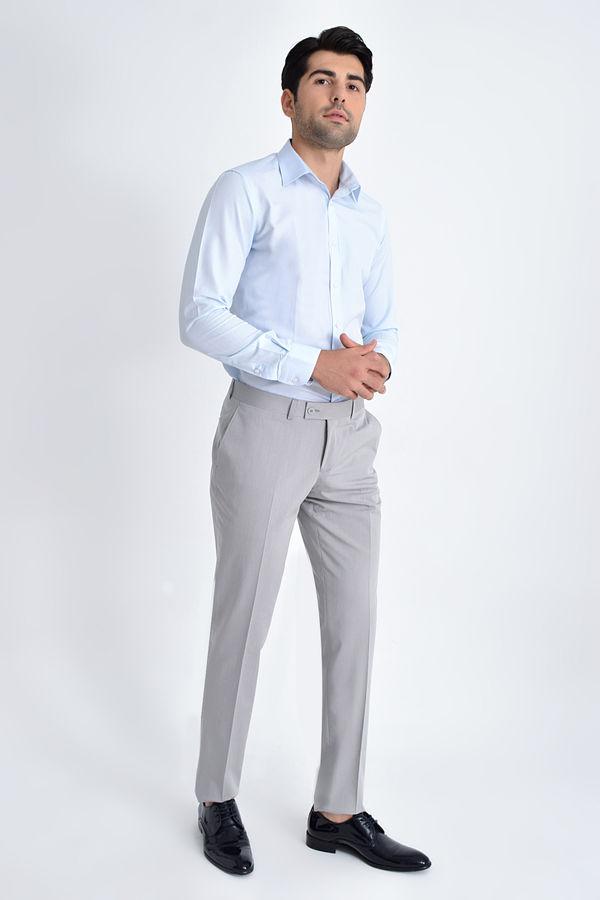Hatemoğlu - Desenli Klasik Vizon Pantolon (1)