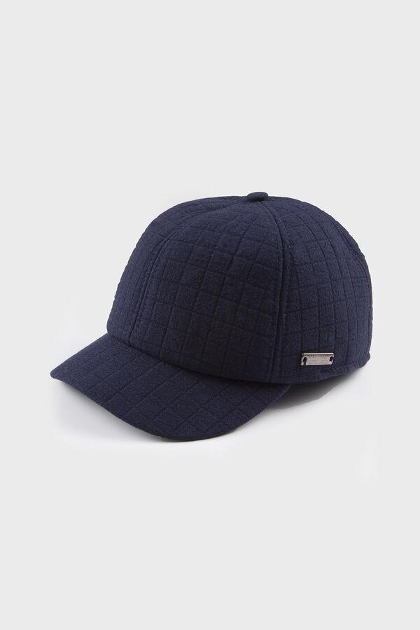 Desenli Lacivert Şapka