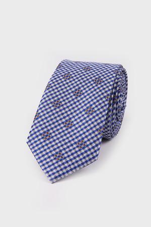 Hatemoğlu - Desenli Mavi Kravat
