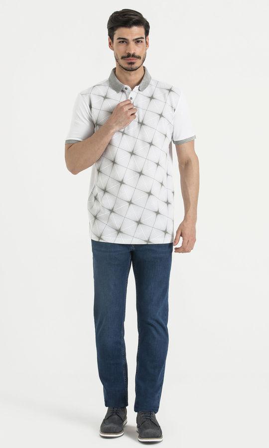 Hatemoğlu - Beyaz Desenli Polo Yaka Tişört (1)