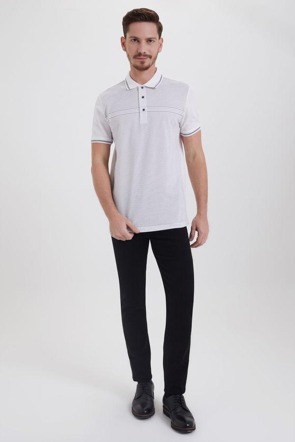 Hatemoğlu - Beyaz Polo Yaka Desenli Tişört (1)