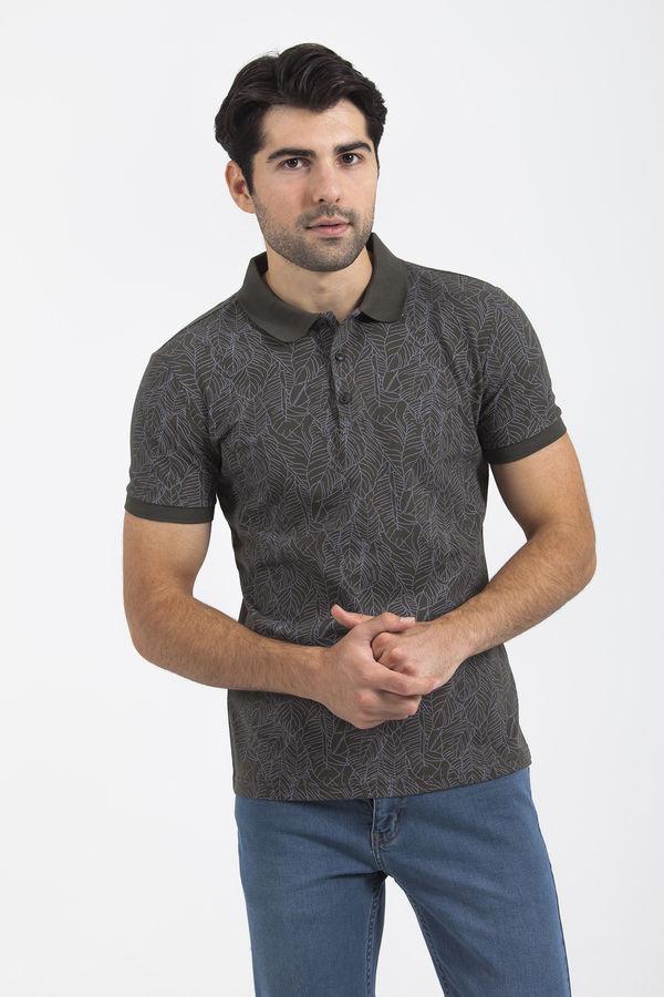 HTML - Haki Desenli Polo Yaka Tişört