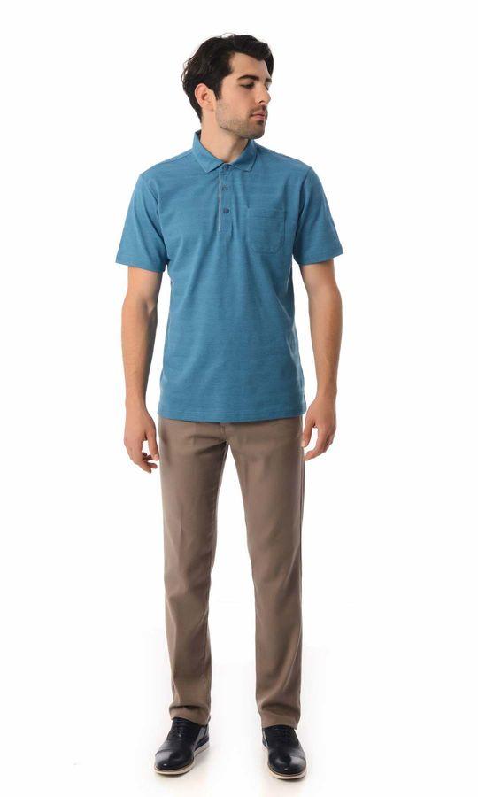 Hatemoğlu - Mavi Polo Yaka Basic Tişört (1)