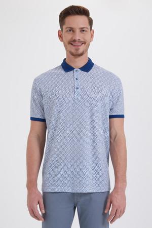 Hatemoğlu - Mavi Desenli Polo Yaka Tişört