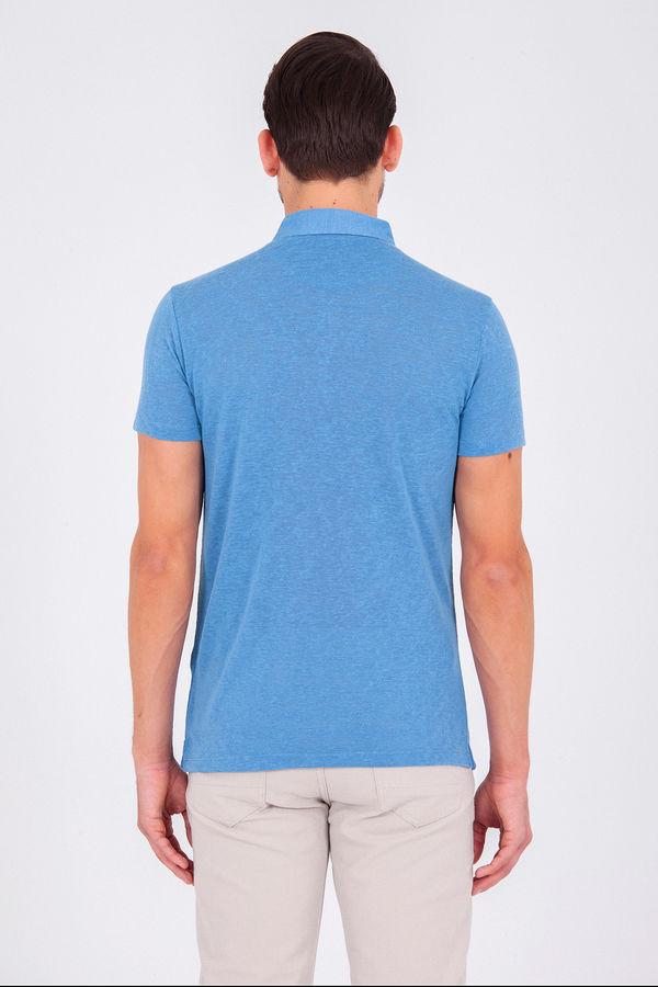 Mavi Polo Yaka Basic Tişört