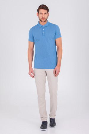 HTML - Mavi Polo Yaka Basic Tişört (1)