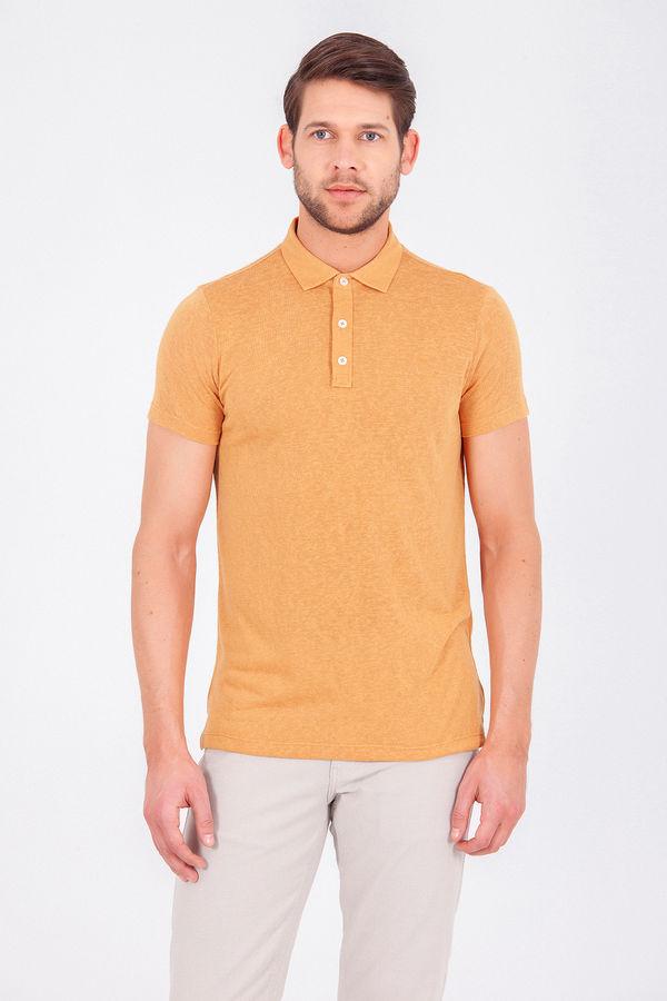 Hardal Polo Yaka Basic Tişört