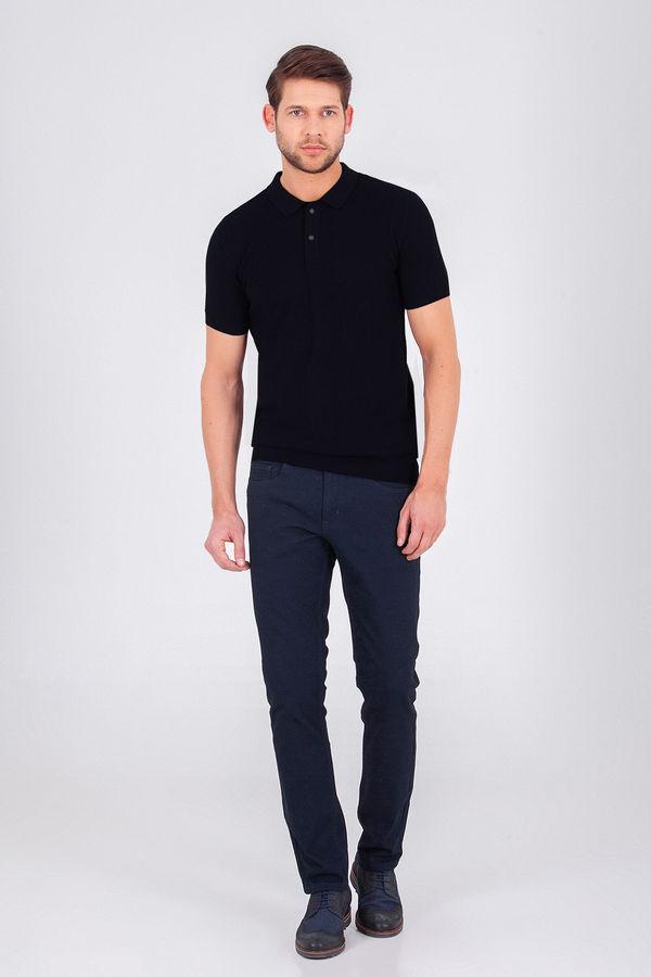 Hatem Saykı - Desenli Polo Yaka Siyah T-shirt (1)
