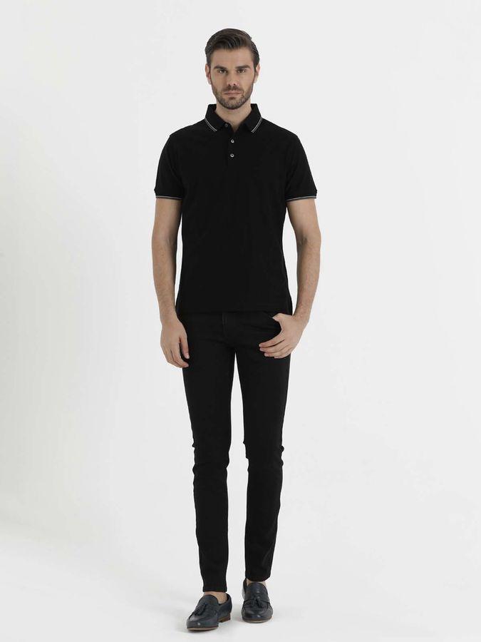 Hatem Saykı - Siyah Polo Yaka Basic Tişört (1)