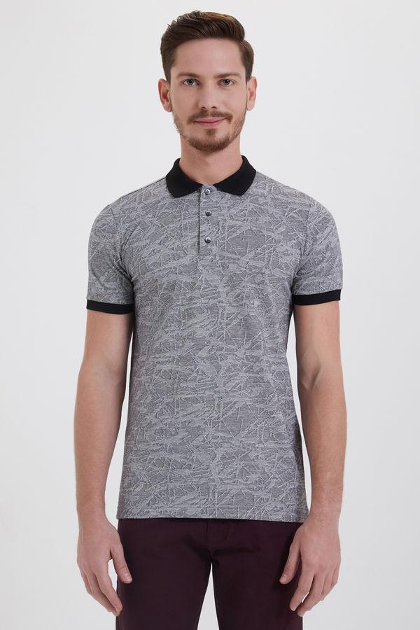HTML - Siyah Desenli Polo Yaka Tişört
