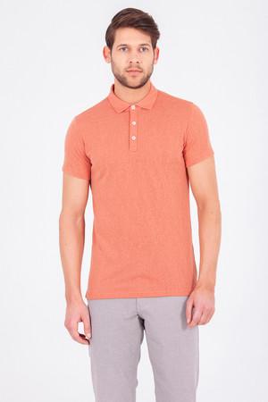 HTML - Turuncu Polo Yaka Basic Tişört